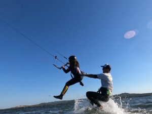 Kitesurf for children in Punta Trettu